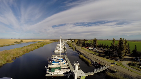 View of Sevenmile Slough from the top of the mast