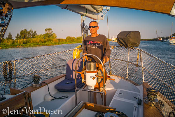 Rich at the helm of Tayana 37 Ramble On