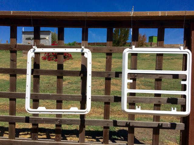 Metal hatch frames painted with Interlux Perfection